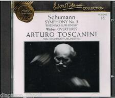 Toscanini Collection Vol. 16 - Schumann: Sinfonia N.3; Weber: Overture.- CD