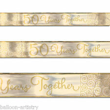 5 Yard Gold 50th Golden Anniversary 50 Years Together Party Foil Banner
