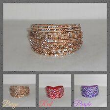 Bracelet,Cuff,Wrap,Adjustable...Multi Crystals Wrap Cuff Bracelet(WB.ZBB)