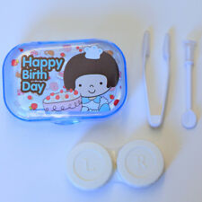 Happy Birthday Girl Blue Contact-Lens Travel Case Holder w/ Accessories