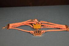 CROWNS NOOSA LEATHER CHARM BRACELET  New!  Fashion Jewelry  USA SELLER!  stylish