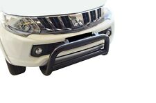 Black Bullbar Nudge Bar Grille Bumper Guard for Mitsubishi Triton MQ 15-18 D