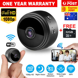 AU 1080P HD Mini Wifi Wireless IP Hidden Spy Camera Security Cam Network Monitor