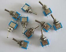 10x SPDT Guitar Mini Toggle Switch 2-Position ON/ON 3 PIN Car/Boat Switches