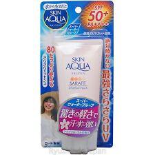 Rohto SKIN AQUA SARAFIT UV Essence Sunscreen Floral Fragrance 80g SPF50+ PA++++