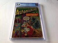 ASTONISHING 7 CGC 2.0 PRE CODE HORROR ATLAS COMICS JOHN ROMITA LINGERIE COVER