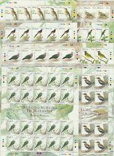 Malaysia 2005 Birds Definitive Series 1st Printing Complete Set in Sheet of 20