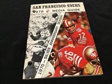 Vintage 1970 San Francisco 49ers NFL Media Guide John Brodie Cover