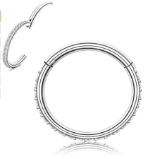 Women Mens Stainless Steel Conch Pierci RnBlm Jewelry 16G Nose Ring Hoop for