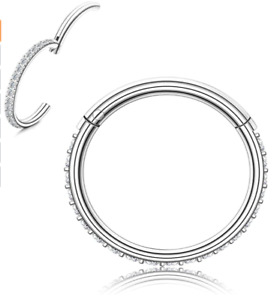 RnBLM JEWELRY 16G Nose Ring Hoop for Women Mens Stainless Steel Conch Pierci