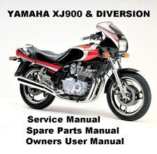 YAMAHA XJ900 DIVERSION 900 Owners Workshop Service Repair Parts Manual PDF CD-R