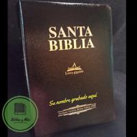 """Biblia Letra Gigante 14 Puntos Antigua Version 1909 Piel Negro """"Personalizada"""""""