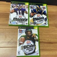 Xbox. 3 Game Bundle. Madden 2002, NCAA 2003, Madden 2003. Tested.