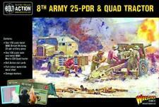 8TH ARMY 25 POUNDER LIGHT ARTILLERY, QUAD & LUMBER - BOLT ACTION
