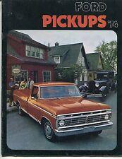 """Vintage Truck Sales Brochure: """"Ford Pickups '74"""""""