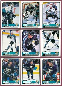1998-99 UPPER DECK UD CHOICE + RESERVE PREVIEW NHL HOCKEY CARD 1- 310 SEE LIST