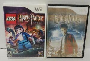 Nintendo Wii Wii U Games LOT Harry Potter Lego 5-7 years + Half-Blood - Working