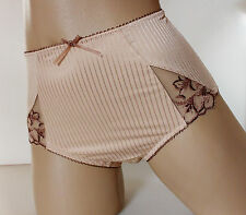 Pretty Ladies Biscuit Midi Style  Full Back Silky Knickers UK 8 XS