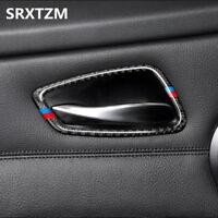 4x Carbon Fiber Car Interior Door Handle Cover Stickers for BMW E90 3 Series
