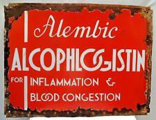 ALCOPHLOGISTIN FOR INFLAMMATION & BLOOD CONGESTION PORCELAIN ENAMEL SIGN RARE