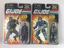 GI Joe 25th Anniversary Cobra Trooper Officer MOC Lot Soldier Army Builder