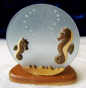 "SEA HORSE Tealight Candle Holder Tea Light 4 1/2"" T x 4 1/8"" W Ocean Life"