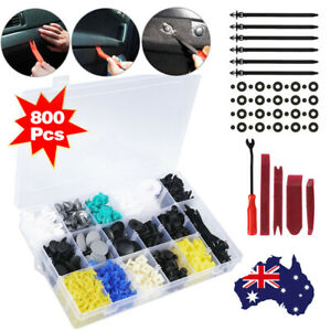 800Pcs Car Body Trim Clips Retainer Bumper Auto Plastic Rivet Screw Fastener Set