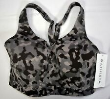 NWT $69 Athleta Black Camo Advance Sport High Impact Bra Current Season #405744