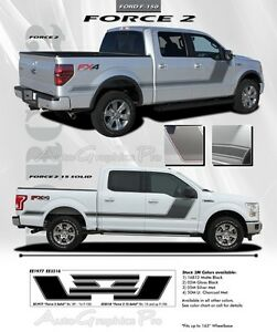 2015-2018 Ford F150 Vinyl Stripes FORCE 2 Side Digital Decal Graphic Pro Install