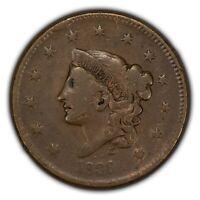 1836 1c Coronet Head Large Cent - Original Mid-Grade Coin - Error Cud - X1564