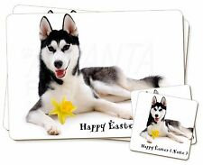 Personalised Name Husky Twin 2x Placemats+2x Coasters Set in Gift B, AD-H55DA2PC