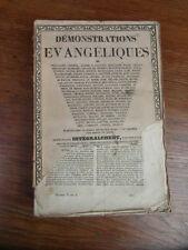 Abbé MIGNE / DEMONSTRATIONS EVANGELIQUES Tome 2 1843 Descartes Eusebe Montaigne