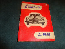 1942 BUICK SALESMAN'S DATA FACTS BOOK / DEALER SHOWROOM ALBUM / RARE ORIGINAL!!!