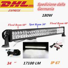 """32"""" 180W Faro Da Lavoro a LED Barra Luce Lavoro Faretto Auto Fuoristrada 4x4 4WD"""