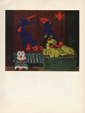 """1959 Vintage EMIL NOLDE """"STILL LIFE WITH YELLOW HORSE"""" COLOR Offset Lithograph"""