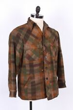 VTG 70S WOOLRICH WOOL PLAID HUNTING COAT JACKET USA MENS SIZE LARGE