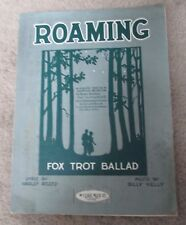 'Roaming' Sheet Music Fox Trot Ballad 1922 Original Vintage