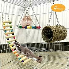 Mq Pet Hammock Hamster Hanging Toys Pet Cage Toy Set for Small Animal (4 Pack)