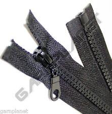 TOP ANGEBOT Jacken Reißverschluss Plastikzahn Krampe Schwarz 60 65 70 75 80cm