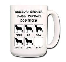 Greater Swiss Mountain Dog Stubborn Tricks Extra Large 15oz Coffee Mug