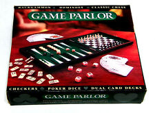 GAME PARLOR: Backgammon Dominoes Chess - Checkers - Poker Dice - Dual Card Decks