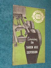1957 CHEVROLET TRUCK TANDEM AXLE SUSPENSION SHOP BOOKLET ORIG. MANUAL