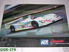 Audi Sport R8 LeMans Racing Poster ALMS 17x12 2005 New!