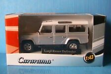 LAND ROVER DEFENDER LWB SILVER CARARAMA 1/43 RANGE 4X4 ARGENT SILBER
