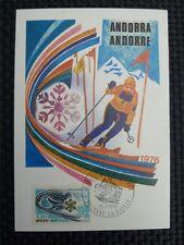 ANDORRA MK 1976 OLYMPIA WINTER OLYMPICS MAXIMUMKARTE MAXIMUM CARD MC CM c1732