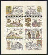 Tchécoslovaquie 1982 Châteaux/bâtiments/Chevaux/HERITAGE/Bijoux 4 V M/S (n31846)