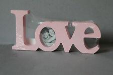 bezaubernder Bilderrahmen Love rosa  Shabby Chic