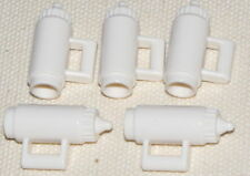 LEGO 5 WHITE WATER BOTTLE CONTAINERS PIECES PARTS