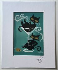 EL GATO GOMEZ RETRO VINTAGE MID CENTURY MODERN MARTINI BAR POP BLACK CATS 1950'S
