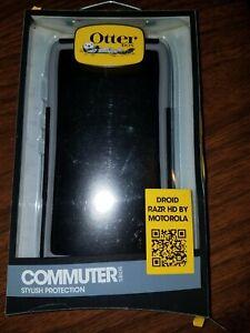 Motorola Droid Razr HD Case Otterbox Shockproof Slim Cover Black / Gunmetal Grey